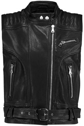 Balmain Leather Vest Black