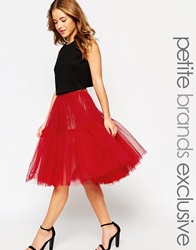 True Decadence Petite Tulle Skirt Red