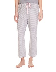 Nautica Striped Pajama Pants Ash Heather
