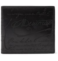 Berluti Makore Scritto Leather Billfold Wallet Black