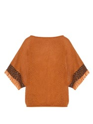Issey Miyake Bark Oversized Cotton Knit Top