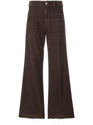 Golden Goose Deluxe Brand Bootcut Flared Corduroy Trousers Brown