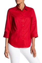 Foxcroft 3 4 Length Sleeve Perfect Shirt Red