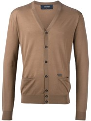 Dsquared2 Button Up Cardigan Brown
