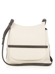 The Row Canvas And Leather Cross Body Bag Black Cream