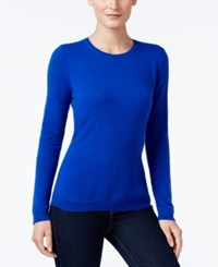 Charter Club Cashmere Crew Neck Sweater Only At Macy's Bright Blue