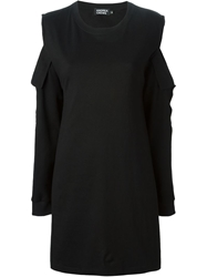 Andrea Crews Cut Out Shoulder Dress Black