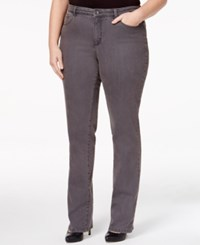 Charter Club Plus Size Lexington Embellished Straight Leg Jeans Only At Macy's Slate Grey Wash