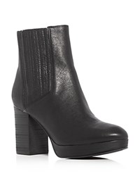 Eileen Fisher Harp High Heel Platform Booties Black