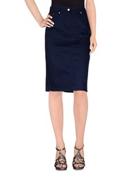 Clips More Skirts Knee Length Skirts Women Dark Blue