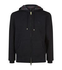Burberry Check Lined Hoodie Male Black