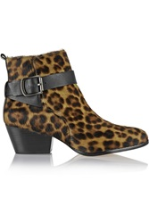 Vivienne Westwood Leopard Print Cow Hair Ankle Boots Animal Print