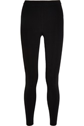Alexander Wang Ribbed Stretch Knit Leggings Black
