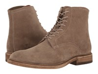 Frye Chris Lace Up Grey Oiled Suede Men's Boots Gray