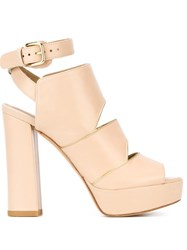 Stuart Weitzman 'Slits' Sandals Nude And Neutrals