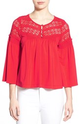 Women's Plenty By Tracy Reese Crochet Lace Peasant Blouse