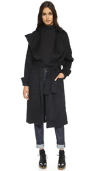 The Kooples Flowing Belted Trench Coat Black