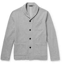 Steven Alan Jerome Cotton Blend Shawl Collar Cardigan Gray