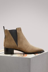 Acne Studios Jensen Ankle Boots Taupe Grey