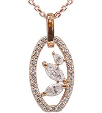Carat London Yael Rose Gold Plated Sterling Silver Pendant