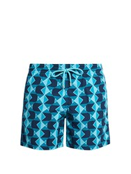 Vilebrequin Moorea Graphic Fishes Print Swim Shorts Blue Multi