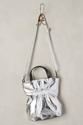 Anthropologie Heidi Ruched Tote Silver