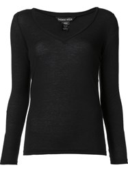Thomas Wylde 'Satisfaction' V Neck Top Black