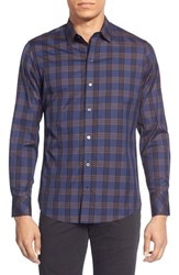 Men's Zachary Prell 'Acheson' Trim Fit Long Sleeve Plaid Sport Shirt