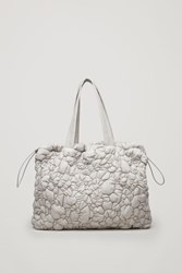 Cos Gathered Padded Tote Bag Brown
