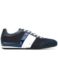 Dirk Bikkembergs Mesh Panelled Sneakers Men Calf Leather Leather Polyester Rubber 45 Blue