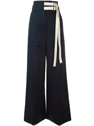 Marni High Waisted Trousers Blue