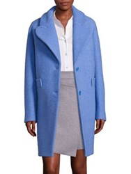 Carven Virgin Wool Blend Coat Sapphire