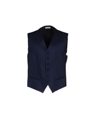 Tiziano Reali Vests Dark Blue