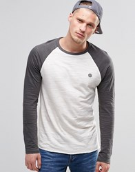 Element Blunt Baseball Top Stone Grey Long Sleeve Grey