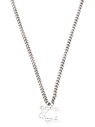 Saint Laurent Star Necklace Metallic
