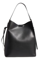 Sole Society Faux Leather Bucket Bag And Zip Pouch Black