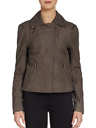 Line Franklin Convertible Leather Jacket Grey