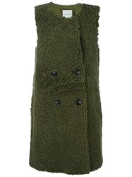Each X Other Sleeveless Shearling Jacket Green