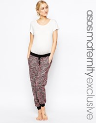 Asos Maternity Lounge Jogger In Space Dye With Pockets Multi