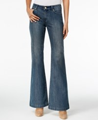 Michael Kors Selma Authentic Wash Flare Leg Jeans Authentic Blue