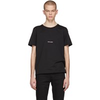 Saint Laurent Black Rive Gauche Logo T Shirt