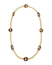 Elizabeth Cole Reyna Mixed Link Necklace Brown
