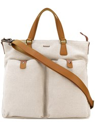 Zanellato 'Giobatta' Tote Bag Women Cotton Leather One Size Nude Neutrals