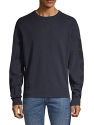 7 For All Mankind Long Sleeve Cotton Sweatshirt Navy