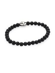 King Baby Studio Onyx Beads And Sterling Silver Bracelet Black