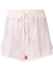 Juicy Couture Swarovski Embellished Velour Shorts Pink And Purple