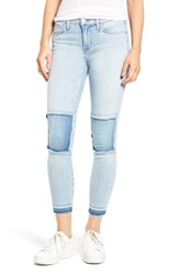 Hudson Jeans Women's Szzi Mid Rise Patched Skinny
