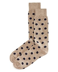 Bloomingdale's The Men's Store At Cashmere Blend Dot Socks Taupe Navy