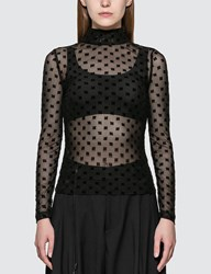 Misbhv Monogram Mesh Turtleneck Black