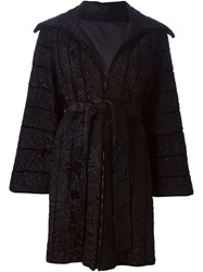 Fendi Vintage Fur Coat Black